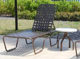 Chaise Lounge Chairs Outdoor 14 5 In Seat Country Club Aluminum Cross Weave Vinyl Strap Chaise