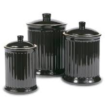 black kitchen canisters u0026 jars you u0027ll love wayfair
