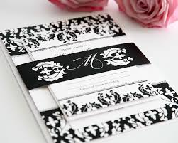 Black And White Invitation Cards Black And White Damask Wedding Invitations U2013 Wedding Invitations