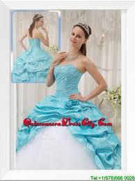 cheap aqua blue ball gown sweetheart designer quinceanera dresses