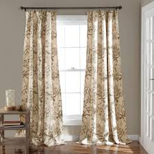 half moon botanical garden window curtain panel set curtains at