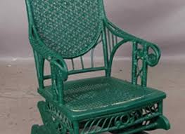 Cane Rocking Chair Ornate Painted Wicker Rocking Chair Cane Wicker Pinterest Hastac