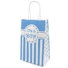 Favor Bag by It S A Boy Baby Shower Blue Favor Bags Pack Of 6 Distinctivs