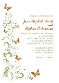 butterfly wedding invitations templates blank wedding invitation
