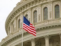 Washington Dc Flag United States Capitol Building In Washington Dc With American Flag