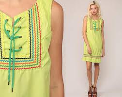 mini dress 70s mod geometric print boho hippie gogo minidress