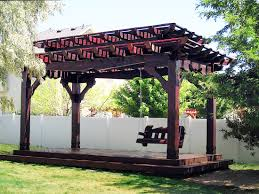 Pergola With Swing by 20 Client Rated 5 Star Fullwrap Roofs On Arbors Pergolas