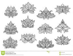 indian paisley flowers with lace ornaments stock vector image