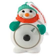 countdown to snowman ornament 2015 hallmark