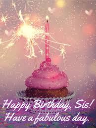 sparkle happy birthday cake for sister birthday u0026 greeting cards