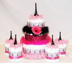 Eiffel Tower Party Decorations Paris Diaper Cake For Baby Shower Eiffel Tower With 4