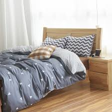 amazon com mzpride gray triangle beding set gray striped duvet
