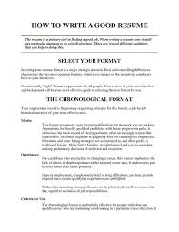 who can write a good resume download how to write a good resume