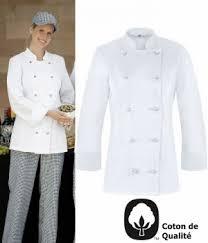 tenue de cuisine pas cher veste de cuisine femme légèrement cintrée oeilllets d aération