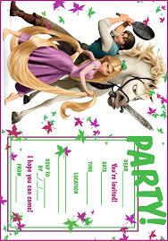 tangled invitations u0026 coloring pages tangled party 5a 3c