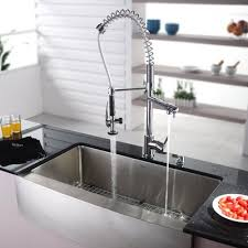 kitchen faucets dallas kraus 35 9 x 20 8 farmhouse kitchen sink with faucet and soap