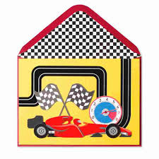 handmade race car u0026 track kids birthday cards papyrus