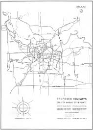 Kansas City Metro Map by 1947 Highway Planning Map The Line Creek Loudmouth