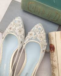 light blue wedding flats 34 gorgeous bridal shoes the overwhelmed bride wedding blog