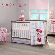 Crib Bedding Sets Minnie Mouse Polkadots Premier 4 Crib Bedding Set Disney Baby