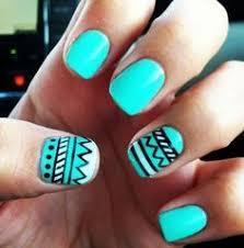 black u0026 gold aztec tribal handpainted nail art lyndar the