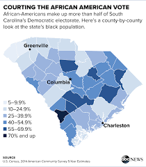 Map Of South Carolina Counties Hillary Clinton Bernie Sanders U0027 Last Minute Dash For Black Voters