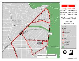Dc Metro Bus Map by Temporary Detour And Bus Stop Clsoures Construction On Oregon Ave