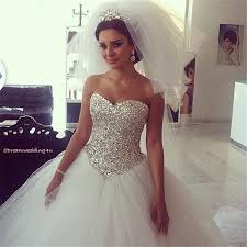 princess wedding dresses with bling plus size wedding dresses with bling 389