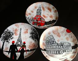 set of decorative plates europe wall plate for home decor wall