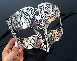 metal masquerade mask mens masquerade mask etsy