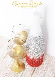 glitter champagne bottle aka glitter sparkling cider bottle