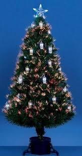 Fibre Optic Slim Christmas Trees - premier fibre optic tree with silver flowers christmas trees