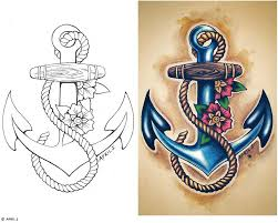 anchor with heart bow tattoo in 2017 real photo pictures