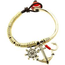 bracelet with anchor charm images Anchor charm bracelet in aged finish anchor haus jpg