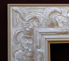 style c 4604 ornate picture frame color finish white shabby chic