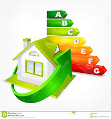energy efficient house design energy efficiency rating with arrows and house stock image image