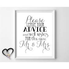marriage advice cards for wedding wedding advice sign leave advice and by infinitelovedesign