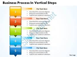 business powerpoint templates process vertical slide numbers sales