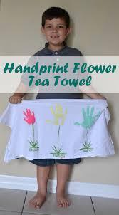 kitchen towel craft ideas mother u0027s day handprint flower tea towel poofy cheeks