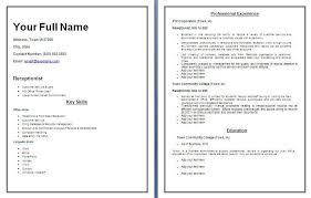 Resume To Fill Up Wonderful Ideas Receptionist Resume Templates 13 Receptionist