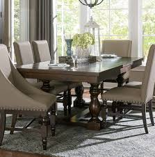 rectangular dining room tables with leaves homelegance reid rectangular dining table with leaf cherry