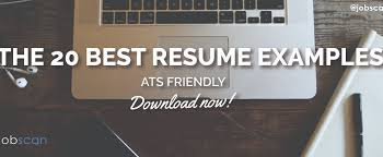 20 ats friendly resume examples