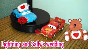 cars sally and lightning mcqueen cars lightning and sally u0027s wedding youtube