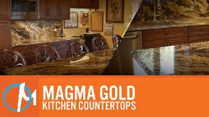 magma gold kitchen countertops youtube