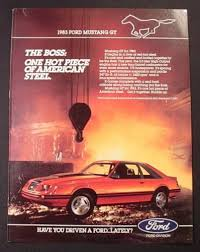ford mustang ad magazine ad for 1983 ford mustang gt steel works in the