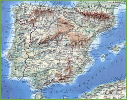 Italy Physical Map by Physical Map Of Portugal And Spain