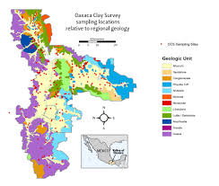 Oaxaca Mexico Map by Evaluating Environmental Predictors Of Elemental Clay Chemistry In