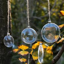 diy flat disc transparent glass ornament weding glass