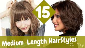15 medium length hairstyles try in 2015 youtube