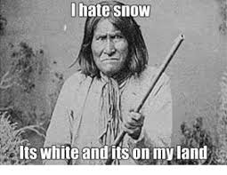 Hate Snow Meme - hate snow its white and its on my land meme on me me